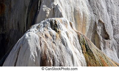 Orange Spring Mound at Mammoth Hot Springs in Yellowstone...