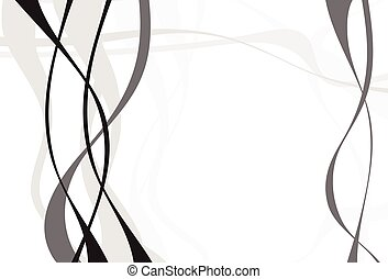 Abstract art vector. Abstract background with curvy, curved...