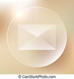 Envelope Glassy Icon | Mail, Message | Web Button | Vector...