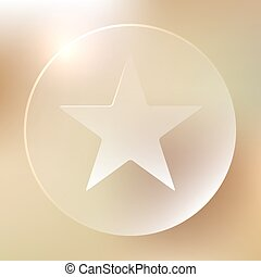 Favorite Star Glassy Icon | Bookmark, Ranking, Rating | Web...
