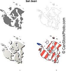 San Juan County, Washington outline map set - San Juan...