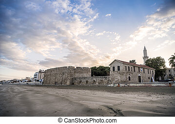 Beautiful view of the Castle in Larnaka, Cyprus