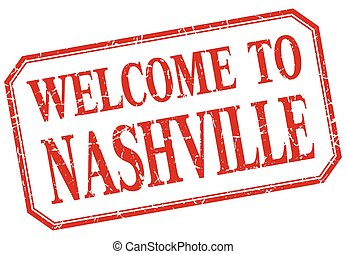 Nashville - welcome red vintage isolated label