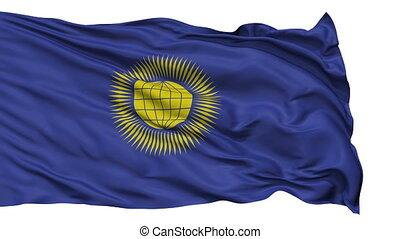 Isolated Waving Flag of United Commonwealth - United...