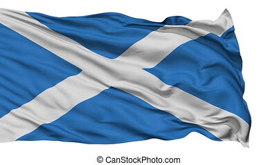 Isolated Waving National Flag of Scotland - Scotland Flag...