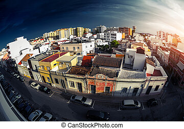 City of Faro - Top view of the city of Faro Portugal