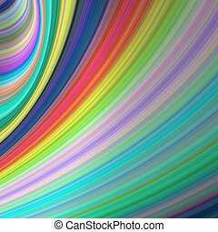 Rainbow speed  - abstract computer generated art background