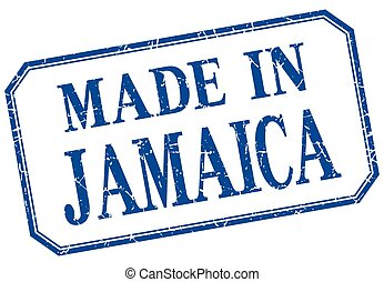 Jamaica - made in blue vintage isolated label