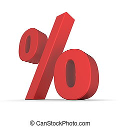 Shiny Red Percentage Symbol