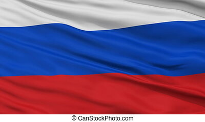 Close Up Waving National Flag of Russia - Russia Flag Close...