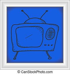 Simple doodle of a television