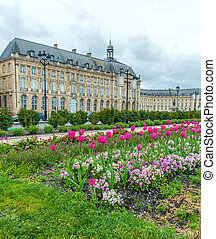 Place de la Bourse at Spring, Bordeaux, France