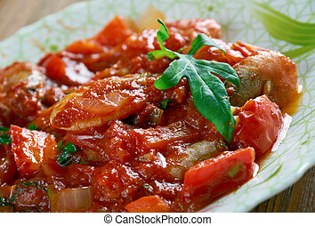 Ceviche creollo con gambas - shrimp ceviche
