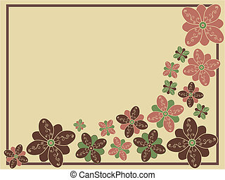 Stylized Floral VectorBackground
