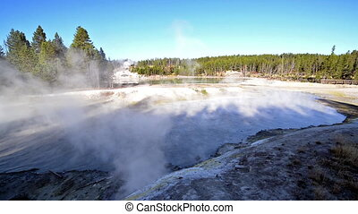 Black Dragons Cauldron in the Mud Volcano Area of...