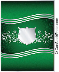 Emerald Green Vector Background Template - A luxurious...