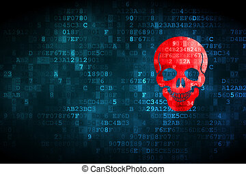 Healthcare concept: Scull on digital background - Healthcare...