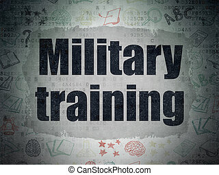 Education concept: Military Training on Digital Paper background