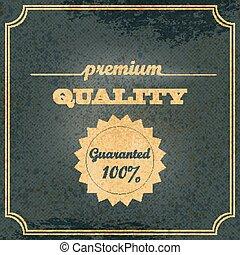 Old vector retro vintage label