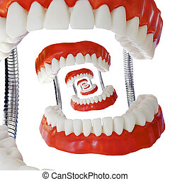 Droste Denture Model Cutout