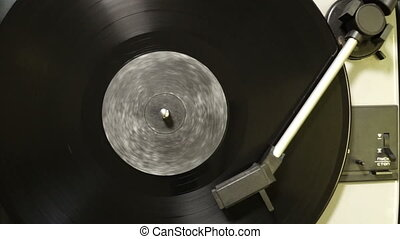 video of vinyl record on the player