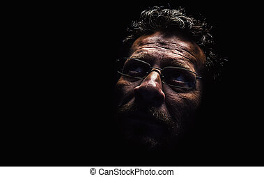Middle Age Man - Portrait of a middle age man wearing...