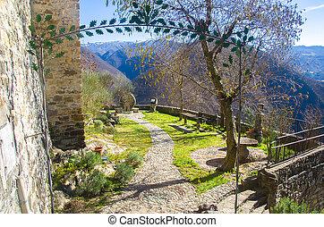 belvedere garden entrance viewpoint in Brugnello - Bobbio -...