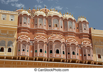 Palace of Winds in Jaipur, India - Hawa Mahal (Palace of...