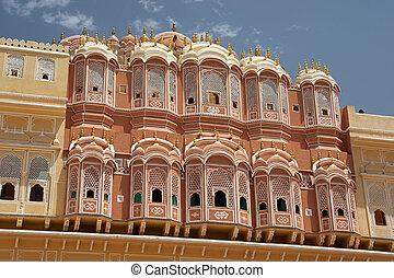 Palace of Winds in Jaipur, India - Hawa Mahal (Palace of...