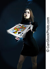 Queen of spades - Attractive young adults lifestyle in...