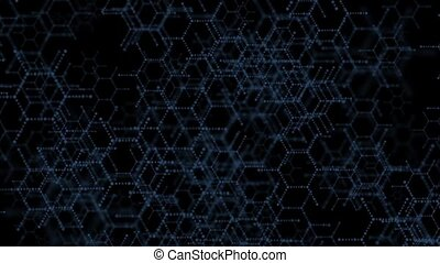 DNA molecule structure background. On a black background