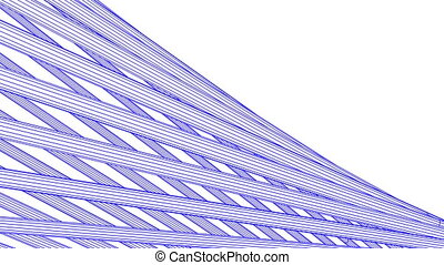 Blue Wire Frame Poles Abstract