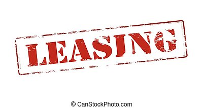 Leasing - Rubber stamp with word leasing inside, vector...