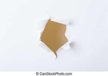 Round hole in paper