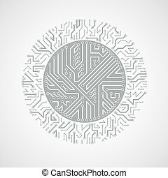 Futuristic cybernetic scheme, vector motherboard black and...