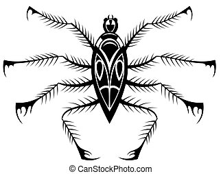 Black spider - Tattoo vector Black spider