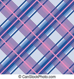 Seamless diagonal pattern in violet, blue and pink