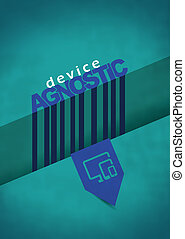 Device agnostic poster with minimalist design. Technology...