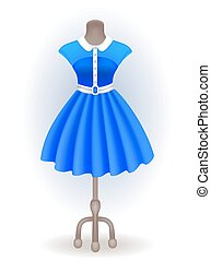 Fashionable dress on dummy - Fashionable dress in retro...