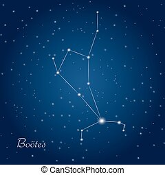 Bootes star constellation - Bootes constellation at starry...