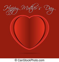 greeting card with red heart