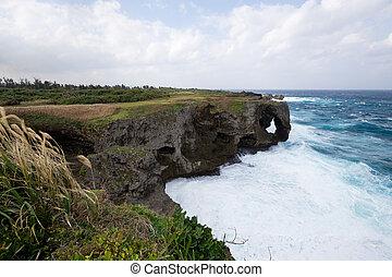 Cape Manza in Okinawa japan