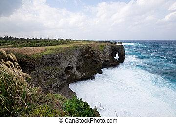 Manza Cape in Okinawa, Japan