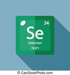 Chemical element Selenium Flat - Chemical element Selenium....
