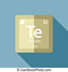 Chemical element Tellurium Flat - Chemical element...
