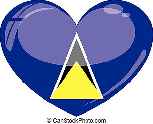 St. Lucia Heart - a symbolic illustration of a country