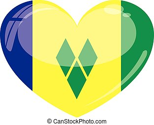 St.Vincent and the Grenadines Heart - a symbolic...
