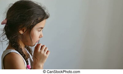girl praying - girl teen praying prayer church belief in god...