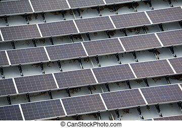 Solar panel on roof top
