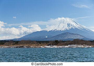 Fujisan and Lake Shoji
